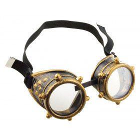 Steampunk Bril Goud