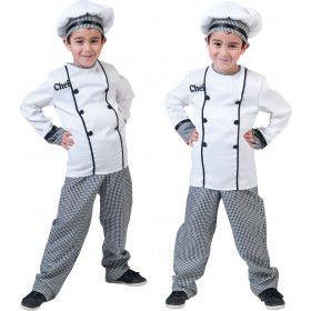 Chef Kok Jonnie Smikkel Jongen Kostuum