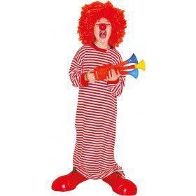 Lekker Lang Gestreept Shirt Clown Kind Kostuum