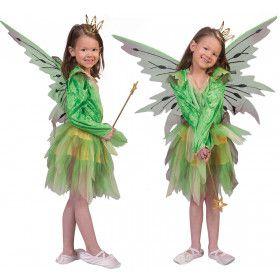 Groene Boself Woeste Woud Meisje Kostuum