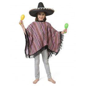 Poncho Manolita Mexicaanse Mariachi Kind Kostuum