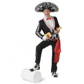 Maximo Mexicaanse Mariachi Muzikant Man Kostuum