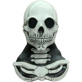 Schedel Masker Met Lange Nek En Ribben Begraafplaats