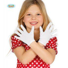 Korte Witte Handschoenen Kind 22 Centimeter