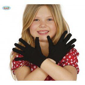 Korte Zwarte Handschoenen 22 Centimeter