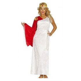 Goddelijke Romeinse Vrouw Kostuum