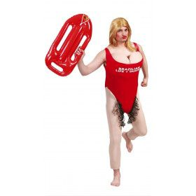 Baywatch Travestiet Man Kostuum