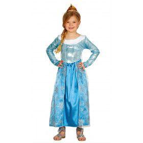 Lieftallig IJsprinsesje Meisje Kostuum