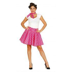 Jaren 50 Pin Up Filmster Roze Vrouw Kostuum