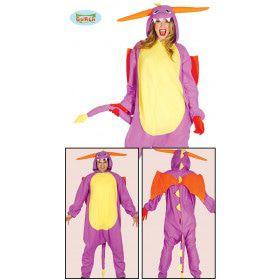 Dartele Draak Jumpsuit Met Vleugels Vrouw Kostuum