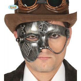 Halfmasker Steampunk Ketting