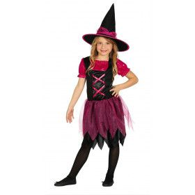 Roze Glitter Show Heks Meisje Kostuum