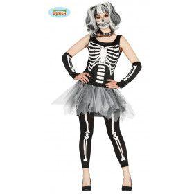Bevallig Tutu Skelet Vrouw Kostuum