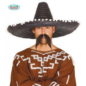 Grote Zwarte Sombrero Met Bolletjes Juan