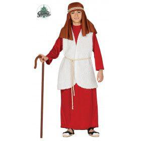 Rode Kerststal Schapenhoeder Jongen Kostuum