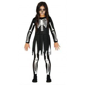 Rillend Trillend Rammelend Skelet Meisje Kostuum