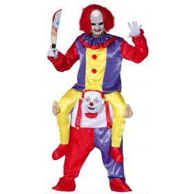 Op De Schouders Van Een Clown Man Kostuum