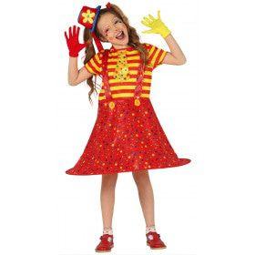 Confetti Regen Circus Clown Meisje Kostuum