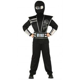 Zilveren Draak Ninja Kind Kostuum