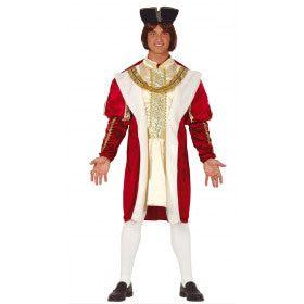 Page Koning Duitse Hof Man Kostuum