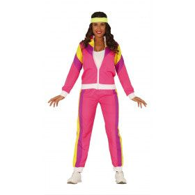 Opvallend Fout Roze Trainingspak Vrouw Kostuum