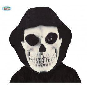 Zwarte Dood Masker Met Kap Beul