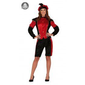 Rode Page Assistent Van De Sint Vrouw Kostuum