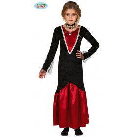 Gracieuze Galante Gravin Bloedzuiger Meisje Kostuum