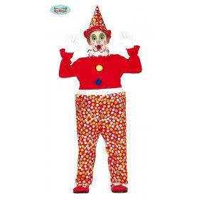 Confetti Clown Circus Van De Lach Kind Kostuum
