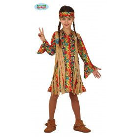 Fraaie Franje Hippie Jaren 60 Meisje Kostuum