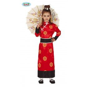 Orientaalse Oosterse Schone Rode Lotus Meisje Kostuum