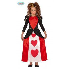 Koningin Grote Rode Harten Sprookjes Meisje Kostuum