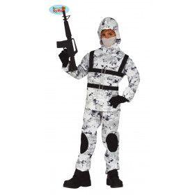 Soldaat Speciale Arctische Troepen Zuidpool Basis Jongen Kostuum