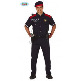 Spaanse Politie Agent Madrid Man Kostuum