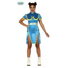 Chun Li Street Fighter Computerspel Vrouw Kostuum