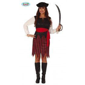 Zeeslag Piraat Kaperskapitein Vrouw Kostuum