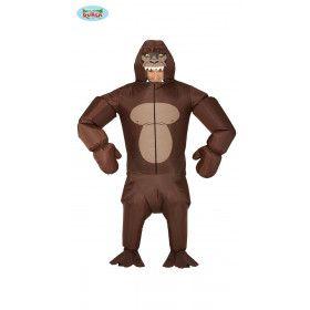 Heerser Van De Jungle Silverback Gorilla Kostuum