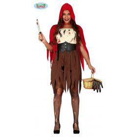 Slachter Van De Boze Wolf Roodkapje Vrouw Kostuum