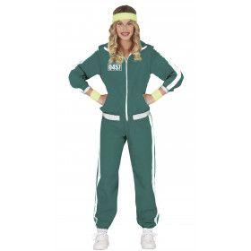 Squid Game Pak Deelnemer Groen Trainingspak Volwassen Vrouw Kostuum