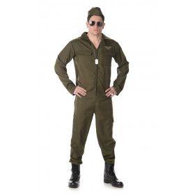 Gevechtspiloot Rafale Straaljager Man Kostuum