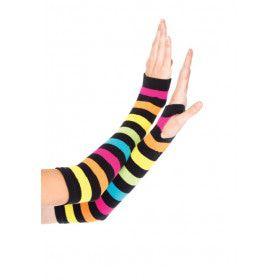 Neon Regenboog Handschoenen