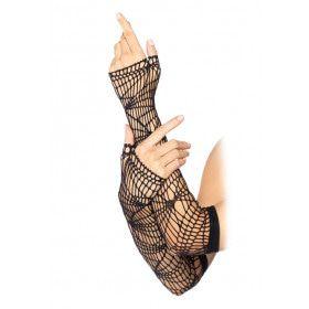 Lange Vingerloze Net Handschoenen