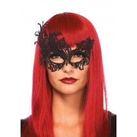 Asymmetrisch Venetiaans Kattenmasker Zwart