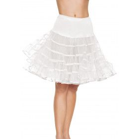 Medium Lange Petticoat Wit