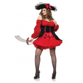 Rococo Sexy Piratenjurk Met Vertersluiting (Plus Size) Vrouw