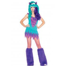 Bont En Sexy Fantasie Monsterkostuum Met Muts Vrouw Kostuum