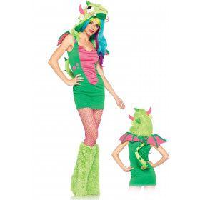 Sexy Magische Draak Met Monstercapuchon Vrouw Kostuum