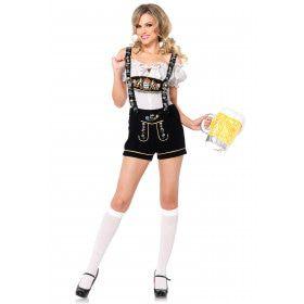 Sexy Dames Lederhosen Kostuum Vrouw