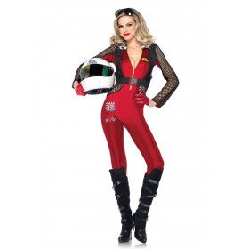 Sexy Formule 1 Coureur Dames Catsuit Vrouw Kostuum