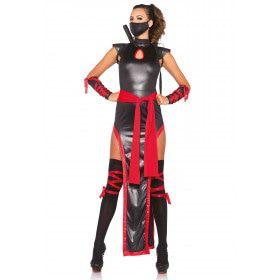 Strijdvaardige Glimmende Ninja Jurk Met Hoge Split Vrouw
